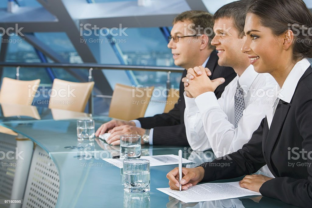 During a  conference royalty-free stock photo