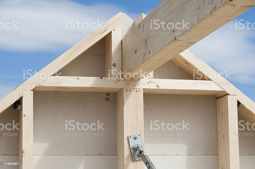 During a house building. Civil Engineering in Germany stock photo