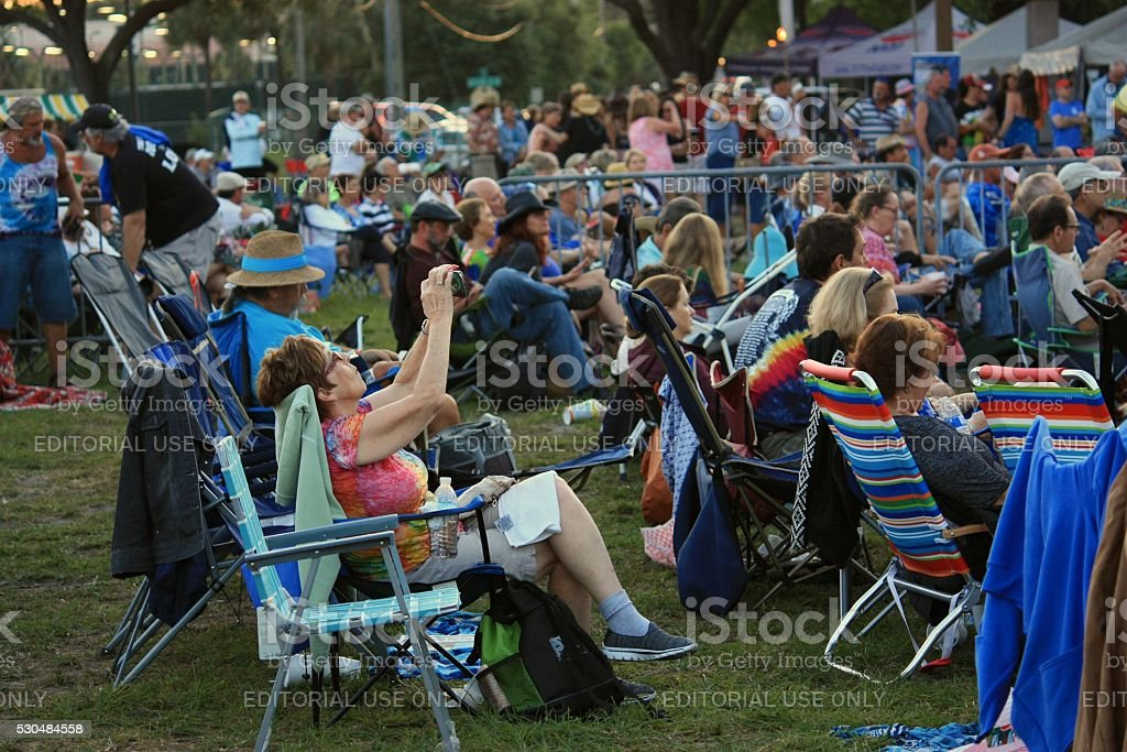 During blues festival in Florida stock photo