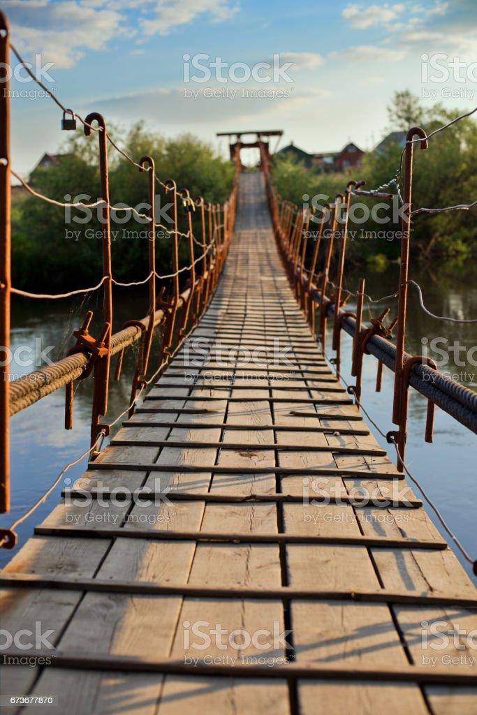 pendant bridge stock photo