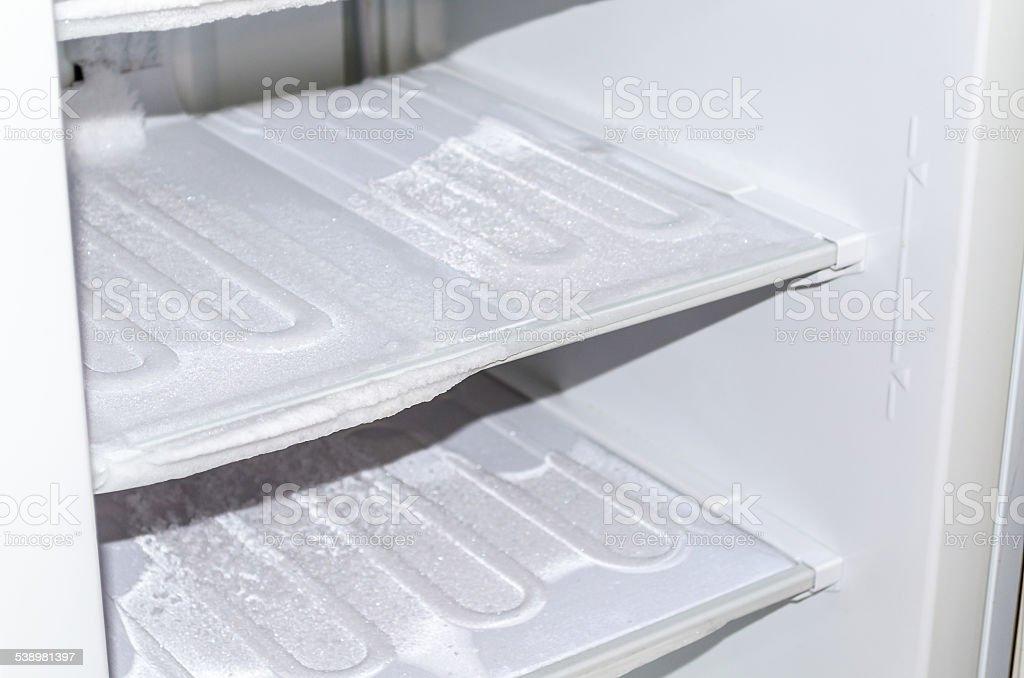 During defrosting freezer stock photo