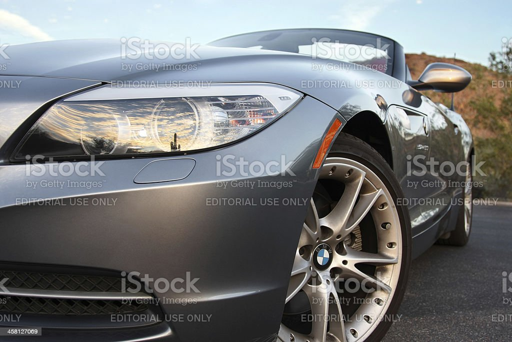 BMW Z4 during late day stock photo