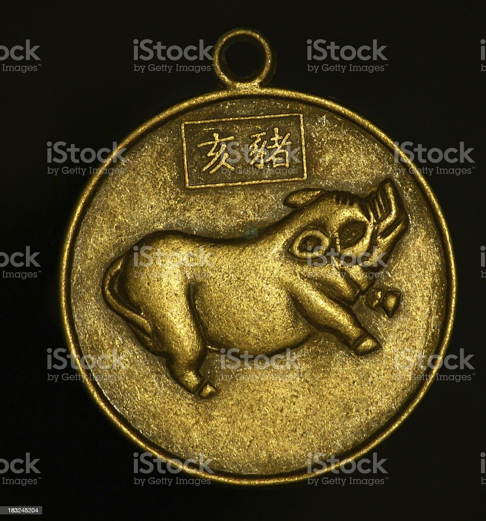 pendant - pig royalty-free stock photo