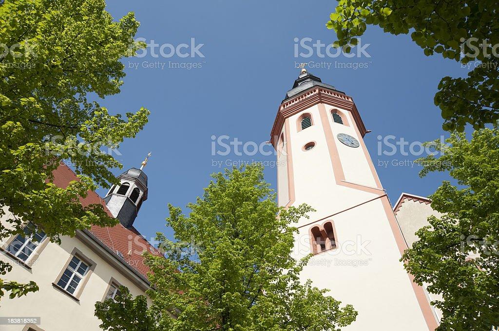 Durlach church tower stock photo