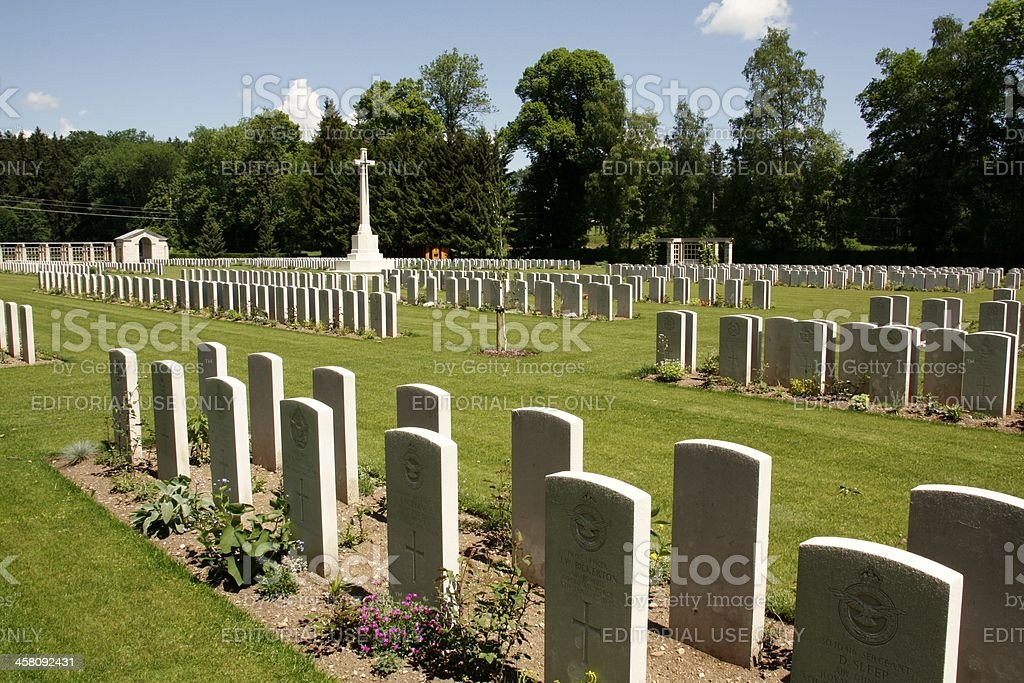 Durnbach military cemetery stock photo