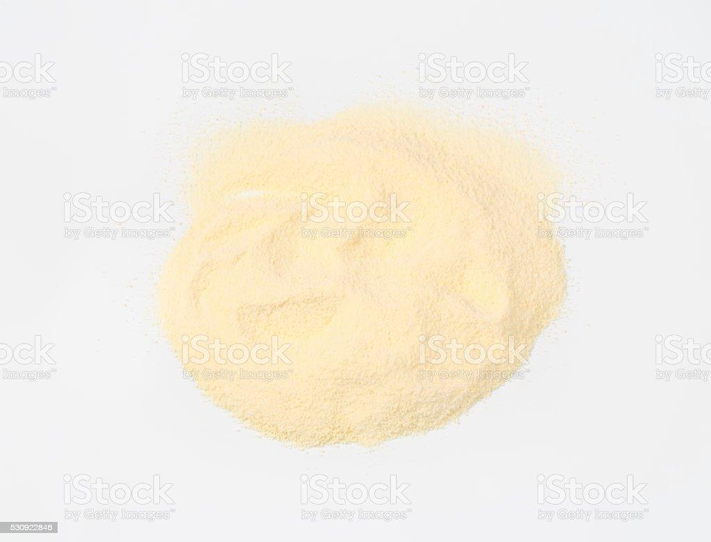 Durum wheat semolina flour stock photo