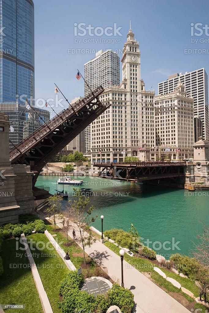DuSable Bridge Lift stock photo