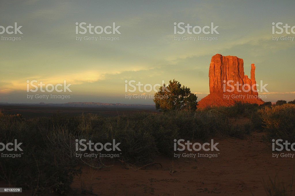 Dusk at Monument Valley royalty-free stock photo