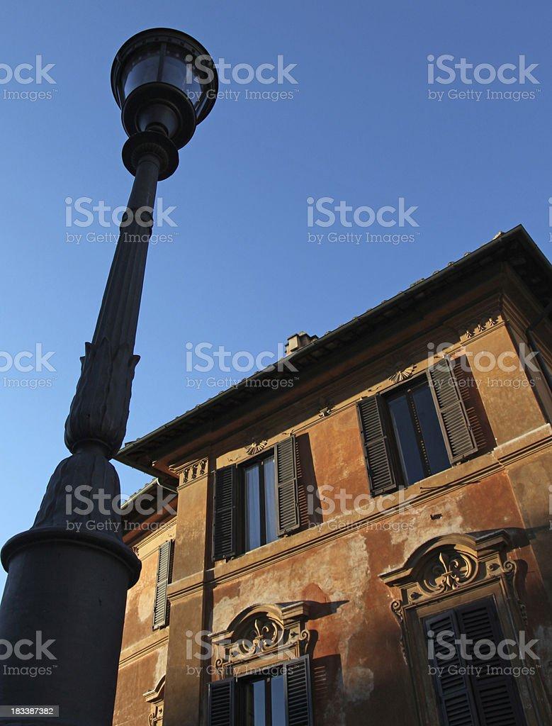 dusk at the spanish steps, rome, italy royalty-free stock photo