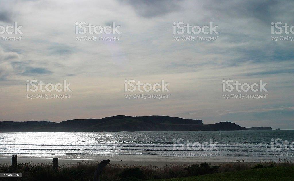 dusk beach stock photo