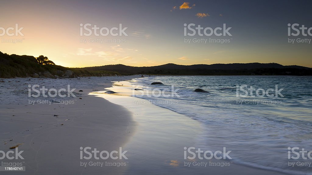 Crépuscule Binalong Bay photo libre de droits