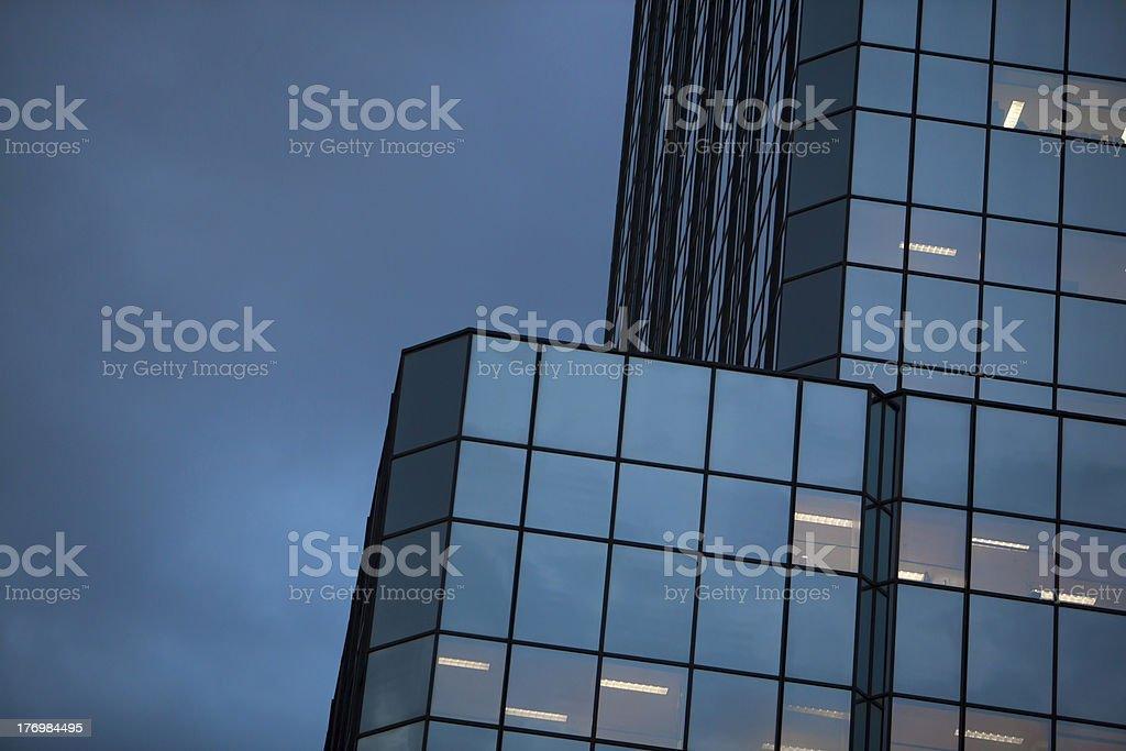 Dusk City Building and Sky royalty-free stock photo