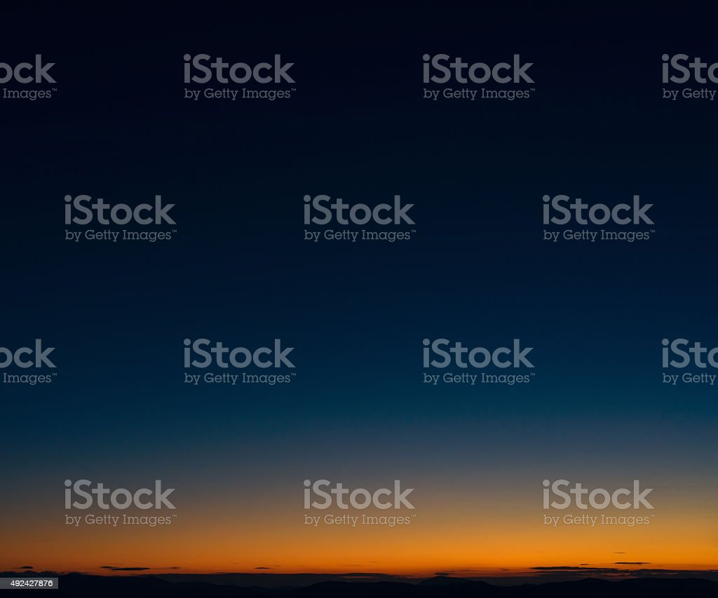 Dusk horizon sky stock photo
