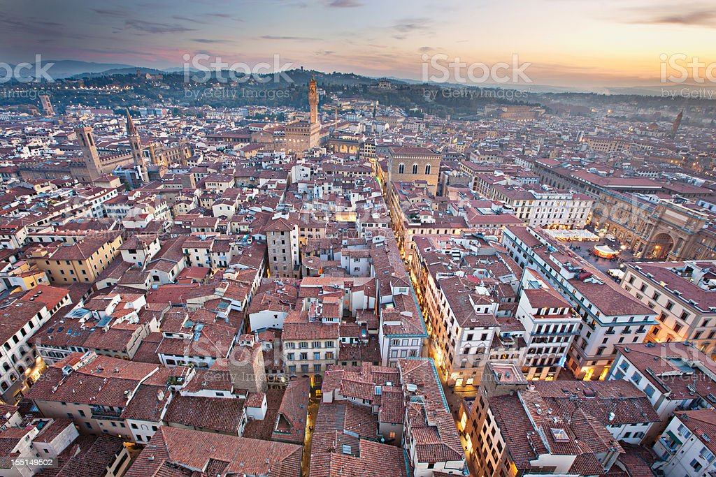 Dusk in Florence royalty-free stock photo