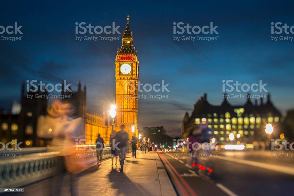 Dusk in London stock photo