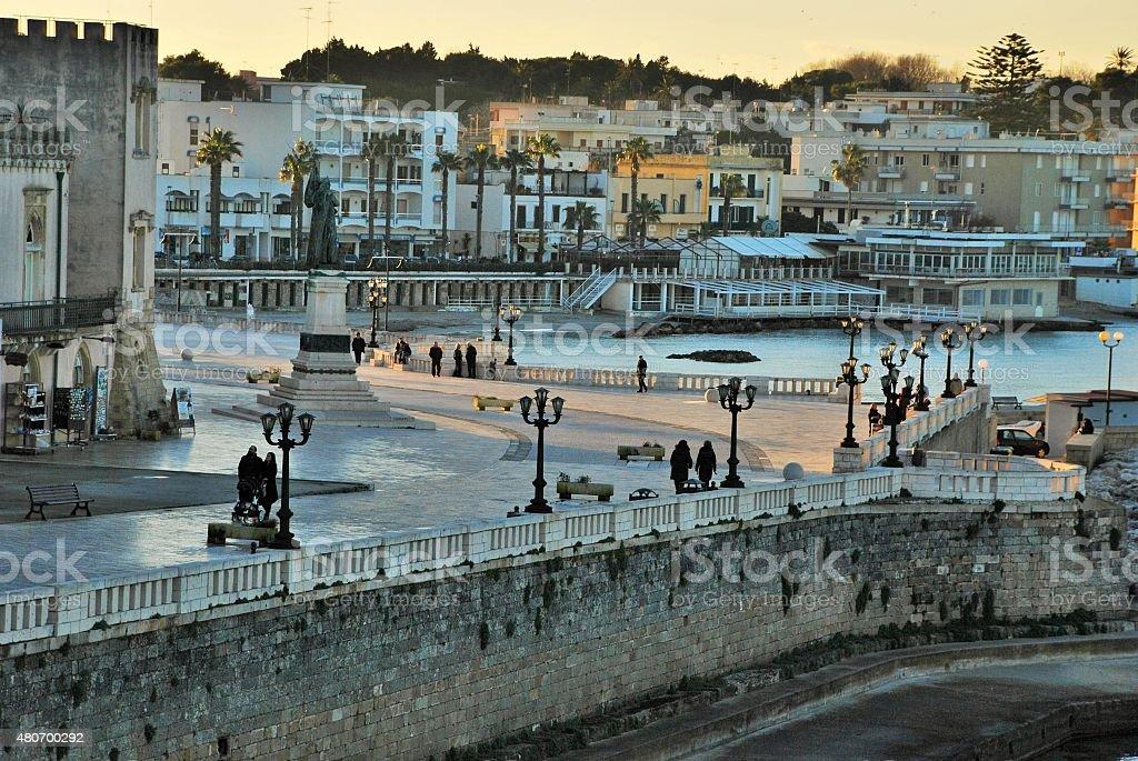 Dusk in Otranto stock photo