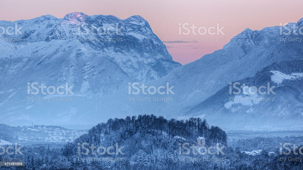 Dusk in the Alps royalty-free stock photo