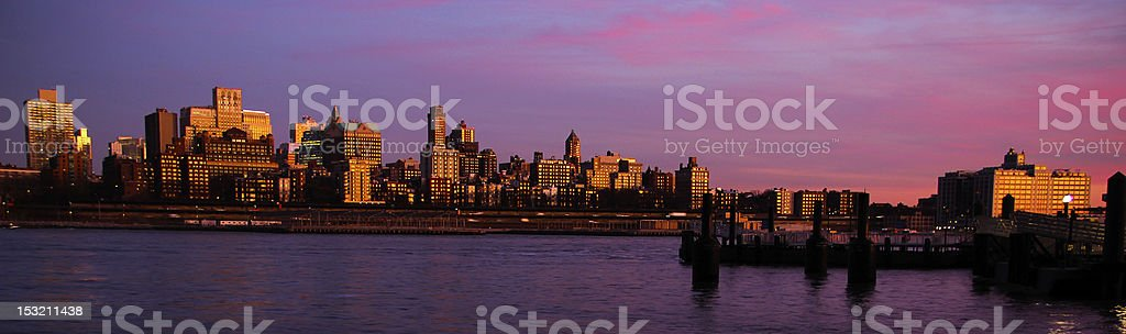 Dusk on the Brooklyn Waterfront royalty-free stock photo