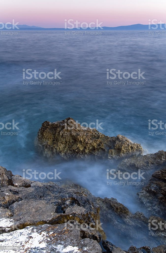 Dusk over Adriatic Sea royalty-free stock photo