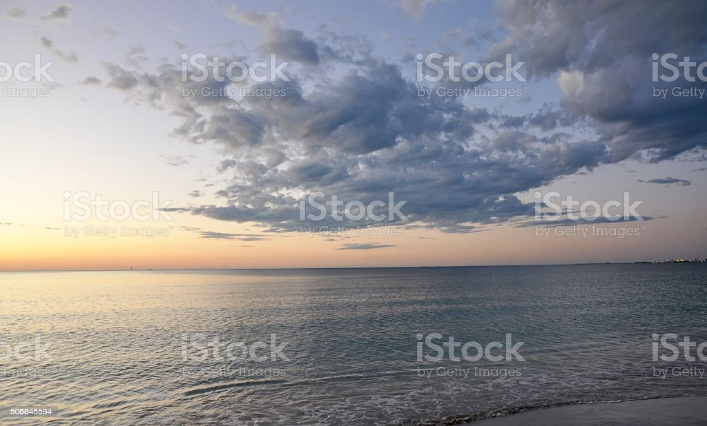 Dusk over the Indian Ocean stock photo