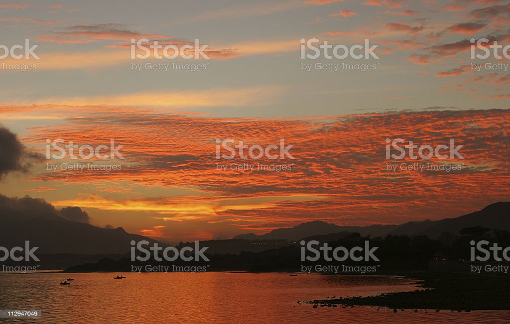 Dusk over the Smoky Mountains royalty-free stock photo
