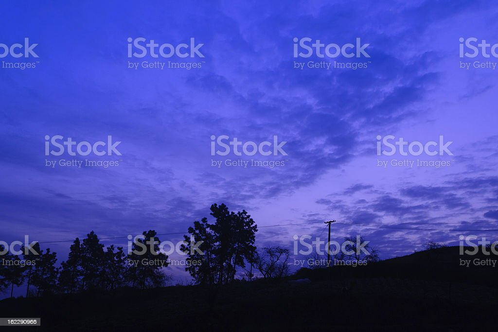 dusk royalty-free stock photo
