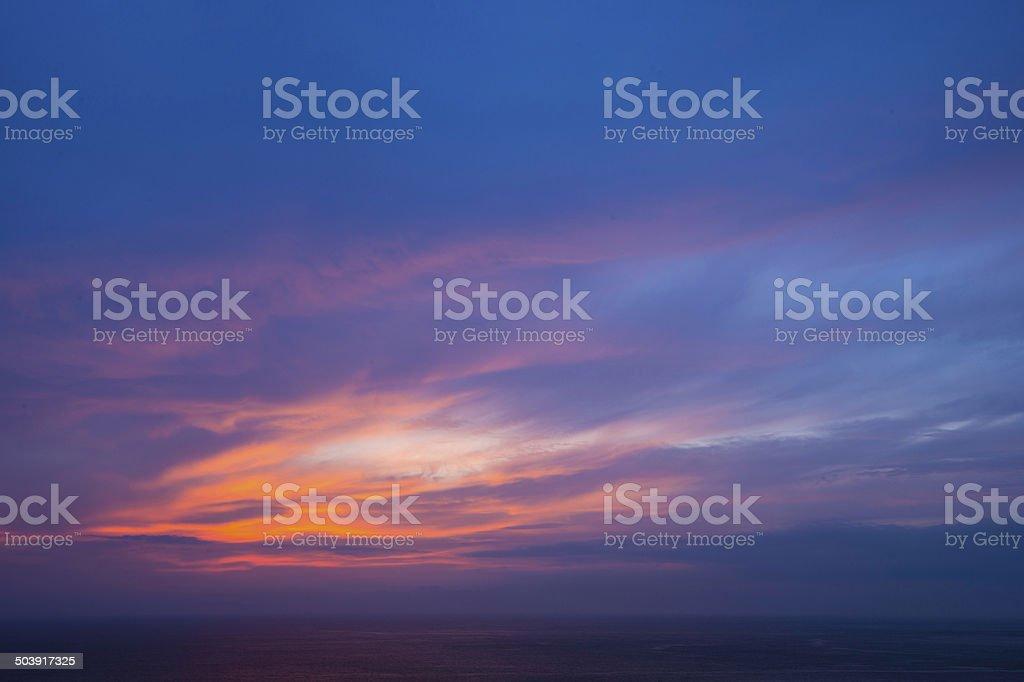 dusk stock photo