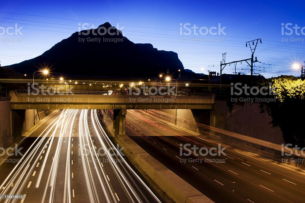 Dusk traffic royalty-free stock photo