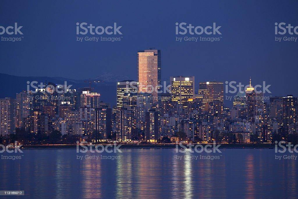 Dusk Vancouver Skyline royalty-free stock photo