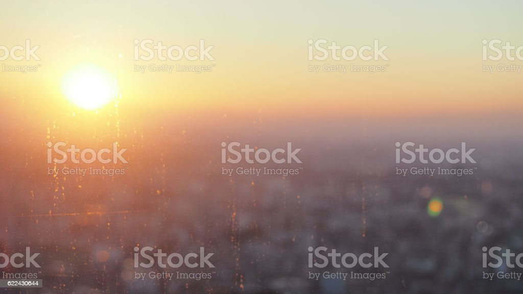 Dusked twilight skyline and sky stock photo