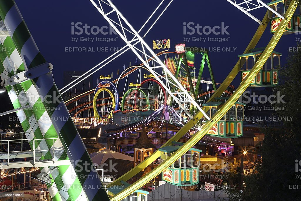 Düsseldorf fairground royalty-free stock photo