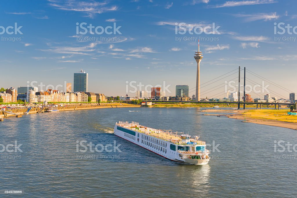 Dusseldorf  in a sunny summer day stock photo