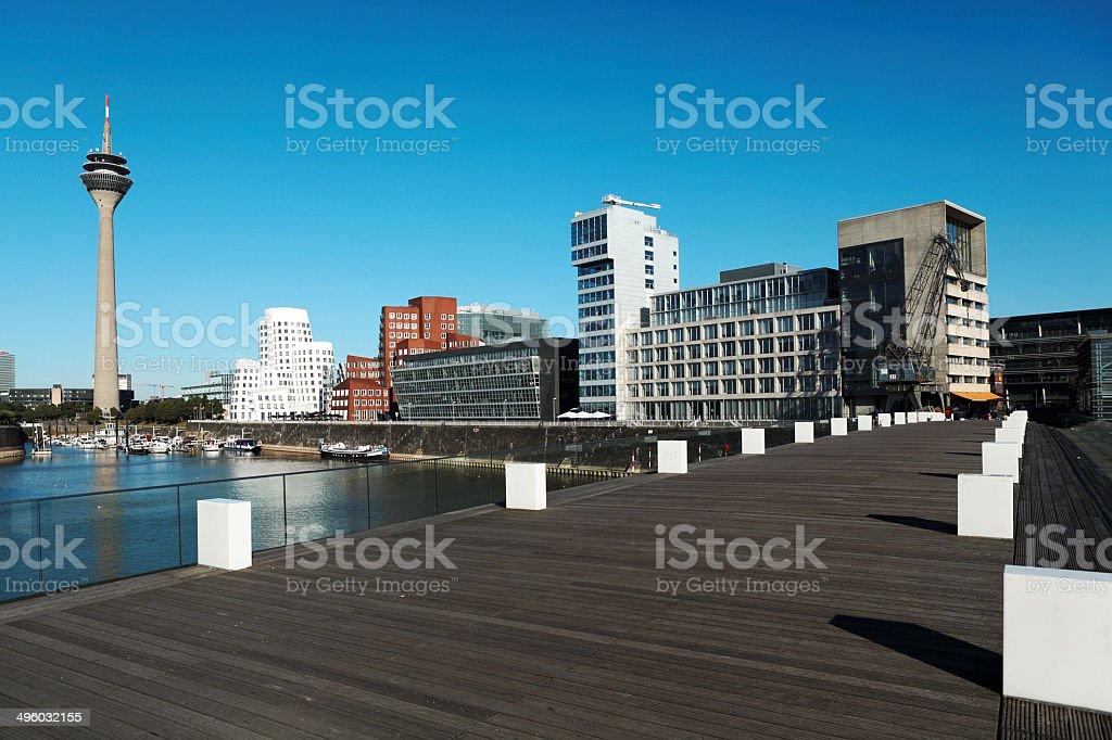 Dusseldorf Media Harbor Panorama stock photo