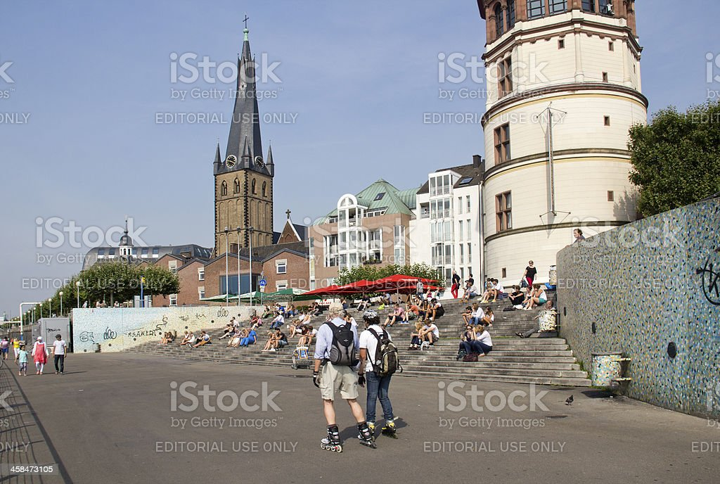 Dusseldorf on Rollerskates royalty-free stock photo