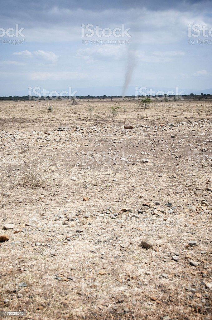 Dust Devil in Tanzania royalty-free stock photo