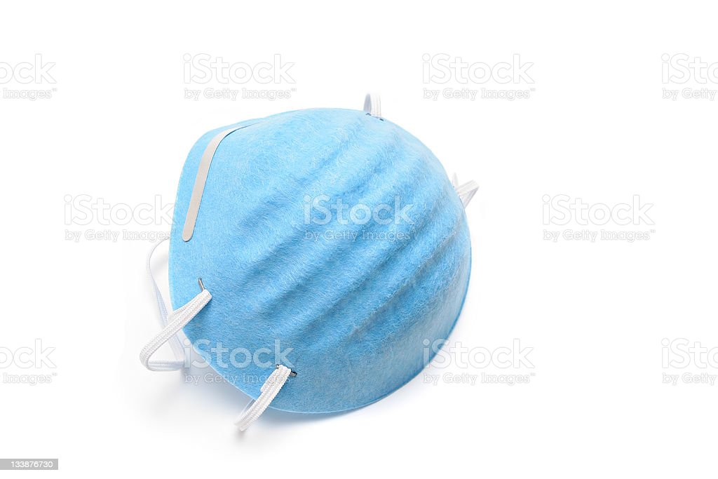 dust mask isolated over white stock photo