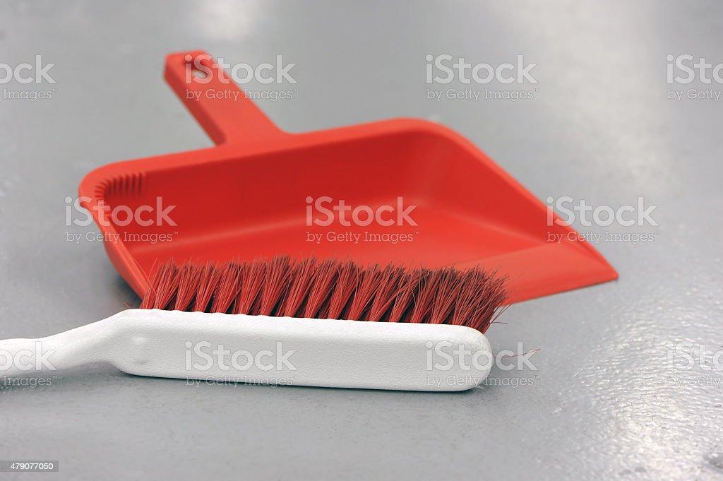 Dust Pan and Brush stock photo