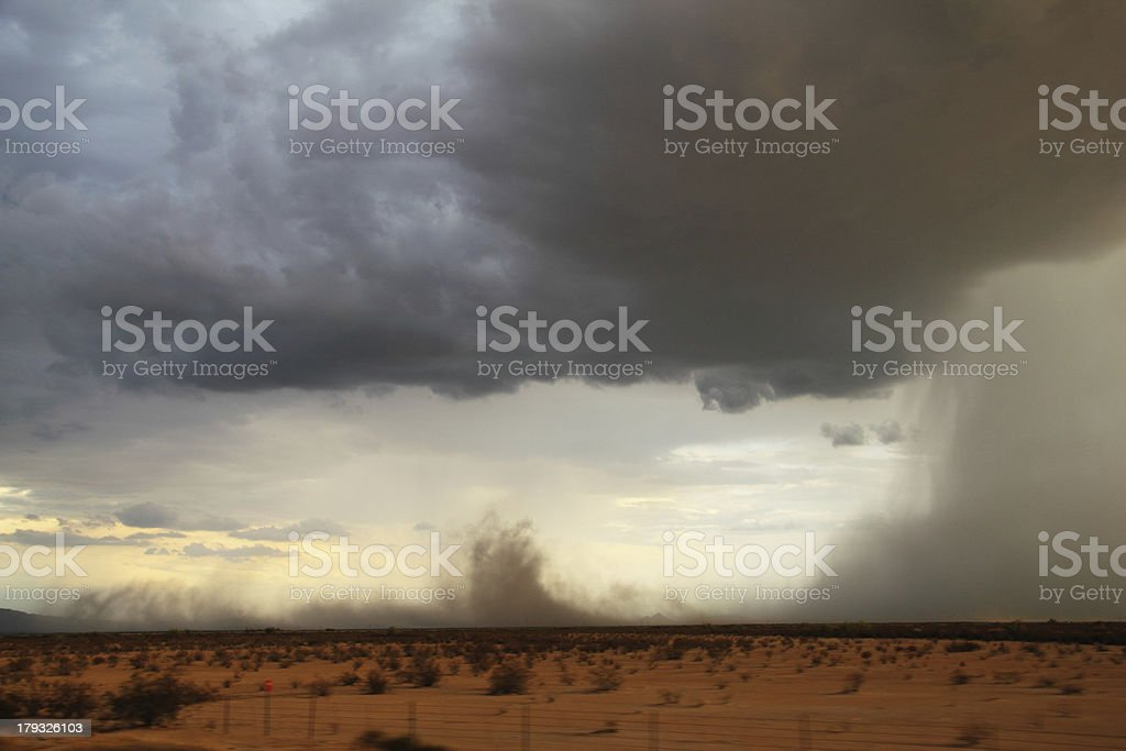 Dust Sand Storm Weather stock photo