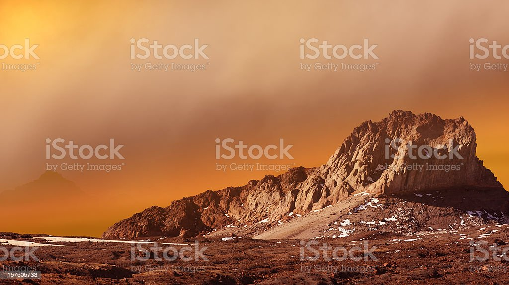 Dust Storm On The Surface Of Mars. stock photo