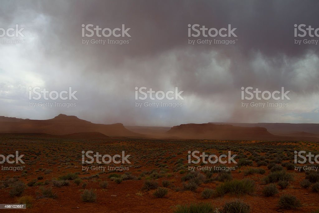 Dust Storm, Valley of the Gods, Utah, USA royalty-free stock photo
