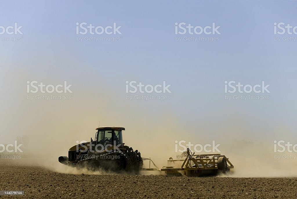 dustbowl farming mid-valley california stock photo