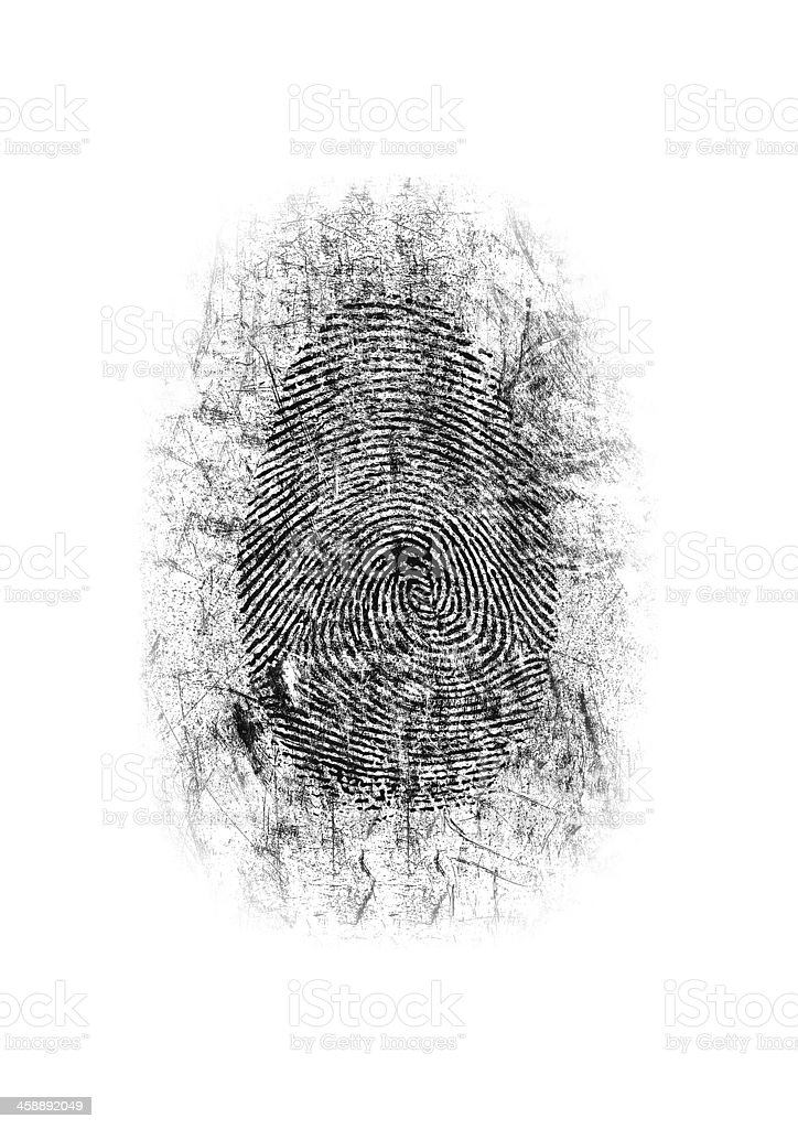 Dusted Fingerprint royalty-free stock photo