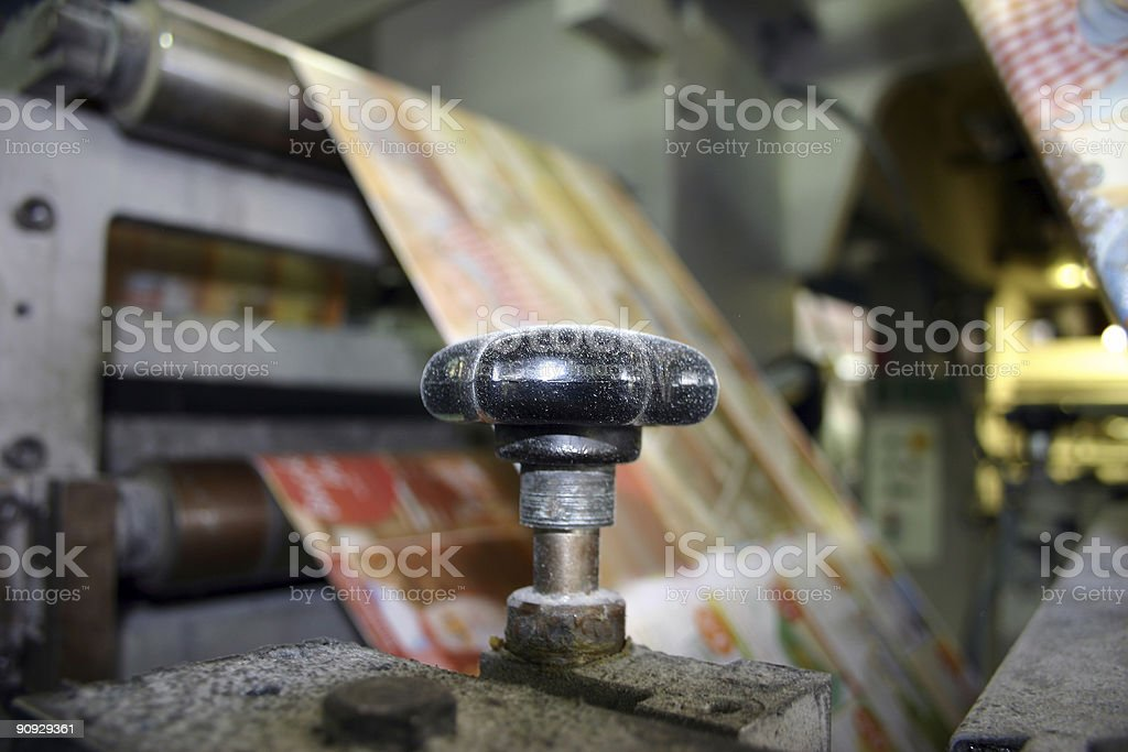 Dusted regulating screw stock photo