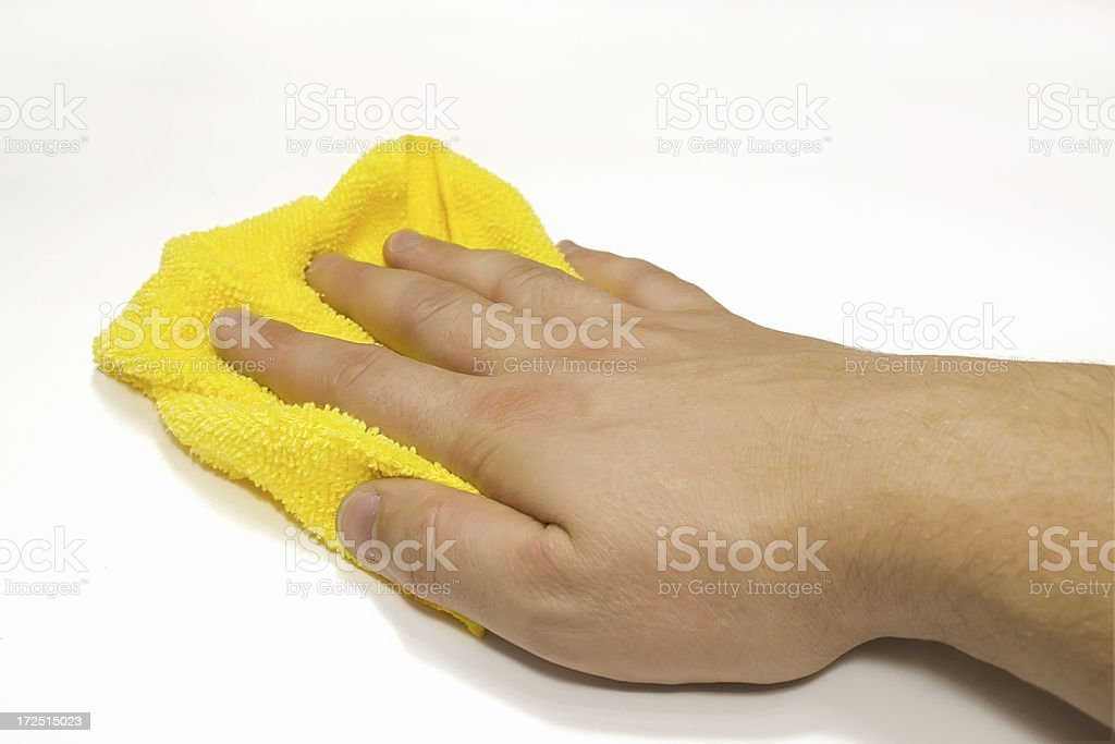 CLEANING - duster royalty-free stock photo