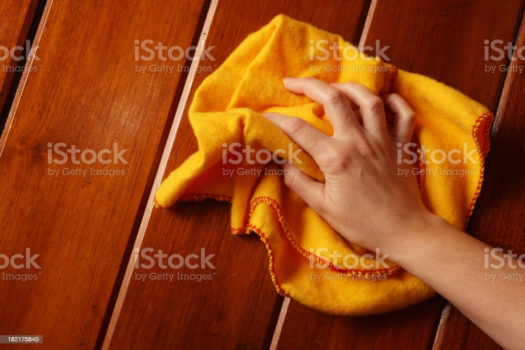 Duster Polishing Wood royalty-free stock photo