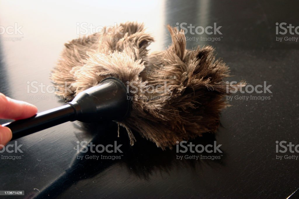 dusting stock photo