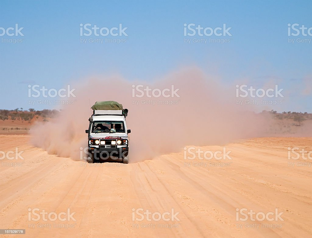 Dusty 4x4 Road Trip stock photo