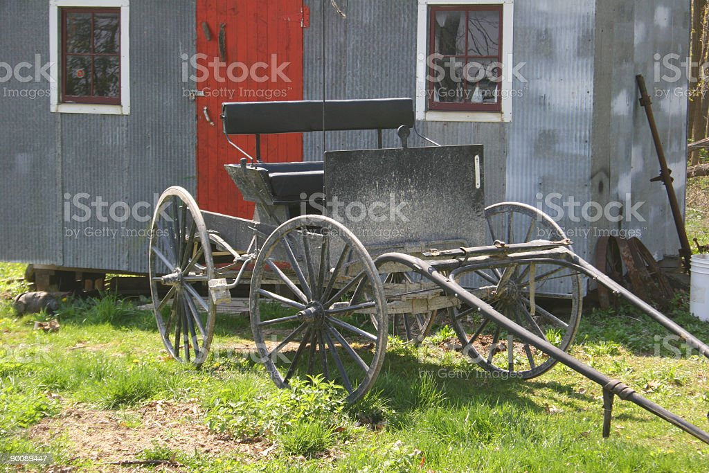 Dusty Amish Carriage royalty-free stock photo