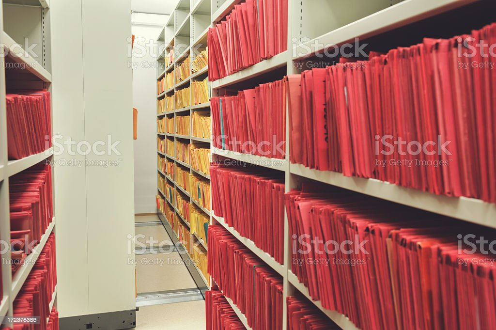 Dusty archive stock photo