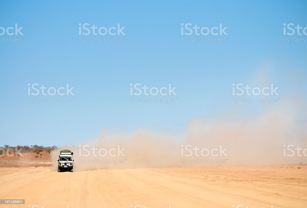 Dusty Australian Road Trip stock photo